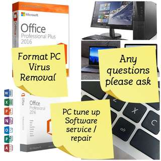 Repair Windows/bluescreen, format,