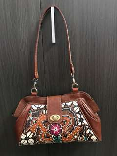Batik Leather Handbag