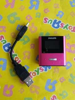 Philips 飛利浦 Mp4 連USB線