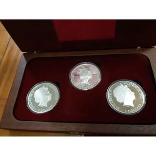 Year 2000 $5 Sydney Olympics Australia Silver Proof Coin Set