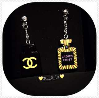 Chanel Ladies First Perfume Dangling Earrings