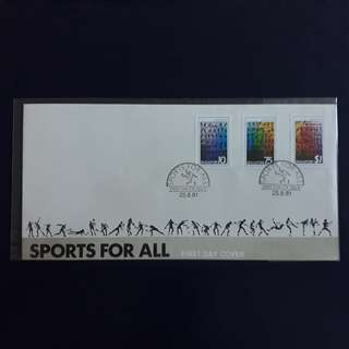 SGFDC 81. 1981-08-25 Singapore FDC. -Sports For All.