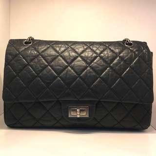 7️⃣1️⃣🉐🎊🔥大優惠! Chanel 2.55 黑色銀扣方扣 Jumbo 雙鍊上膊袋