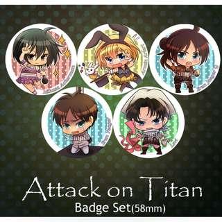 SNK-58mm Badge set/Attack of Titan