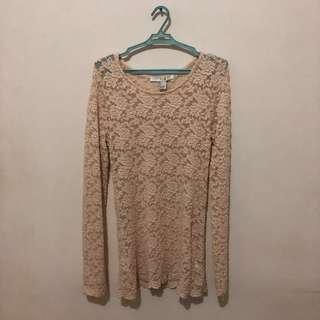 Nude Crochet Long Sleeves