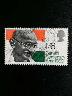 英國郵票 已銷1969年聖雄甘地