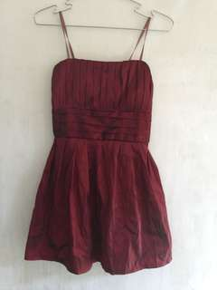 Maroon cocktail dress