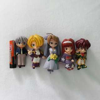 Anime figures set