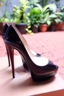 Loubutin Lady Peep Patent Calf
