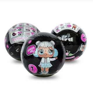 LOL Surprise Dolls Series 2 Wave 3 Black Glitter Ball LOL Hitam Bola Glitter