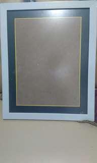 Frame Foto Putih 16R Kaca Doff