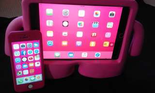 IPAD MINI 1,2 rubber case and iphone 5s 360 case