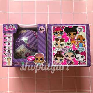 LOL Surprise Dolls Glitter Ball Bola Ungu LOL Purple Bola Glitter