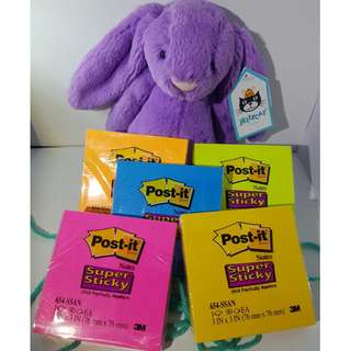 3M Post-it Note Pad Super Sticky Assorted