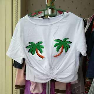 Palm trees crop top (with postage )