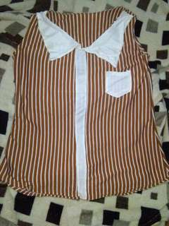 Striped Loose Blouse