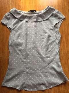 H&M polkadots top (gray)