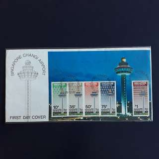 SGFDC 81. 1981-12-29 Singapore FDC affixed with Miniature Sheet. -Singapore Changi Airport.