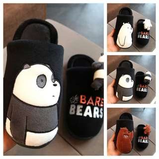 WE BARE BEARS Cute & Comfortable Cartoon Fluffy Bedroom Slipper