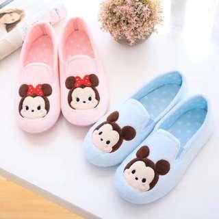 Tsum Tsum Mickey & Minnie Cute & Comfortable Cartoon Fluffy Bedroom Slipper
