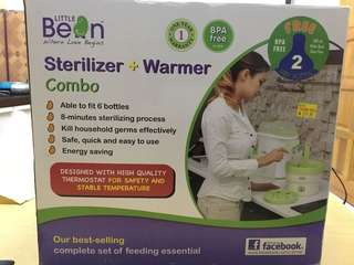 Baby bottle sterilizer warmer combo set