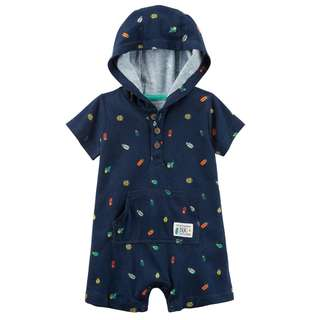 🚚 CABY123 Carters Baby Boys Bug Hooded Romper