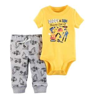 🚚 *6M* Brand New Carter's 2-Piece Bodysuit Pant Set  For Baby Boy #CarouPay