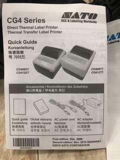 SATO CG4 Series Direct Thermal / Transfer Label Printer