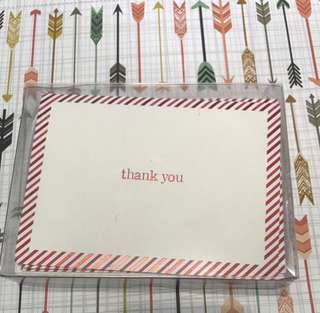 🚚 William Arthur Thank You Cards & Envelopes (4)