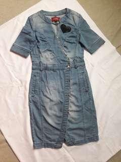 Denim Fitted Dress