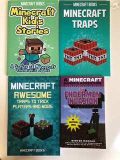 🚚 Minecraft Books - Assortment (4 Books)