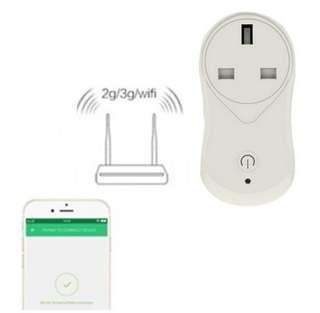 Wifi智能定時供電插座、Wifi smart UK plug, 智能家居控制
