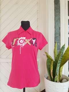 Roxy Pink Polo Shirt
