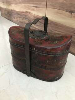 Vintage wooden lunch box