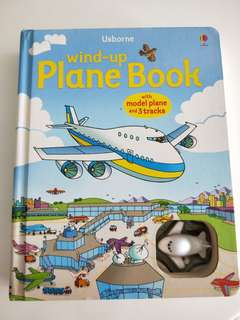 Wind Up Plane Book with Model Plane and 3 Tracks