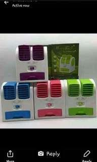 #015 Mini aircon Dual fan (4 colors)
