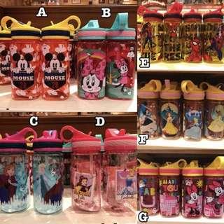 🚚 6/25收單♥香港迪士尼園內限定~迪士尼吸管式運動水壺