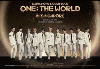 [ WTS ] Wanna One in SG Cat 1 Seated Tickets