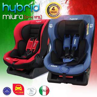 Hybrid Miura Convertible Car Seat (Red/ Black/Blue)