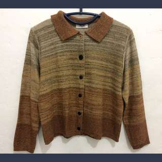 Knitted Brown Sweater / Cardigan