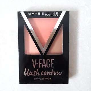 Brand New Maybelline New York V Face Blush Contour Highlighter In Orange 4g