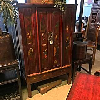 4-doors 'Jiangxi' Cabinet With Paintings