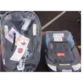 Cybex Cloud Q Plus Infant Baby Car Seat & Base w/ Load Leg  Stardust Black