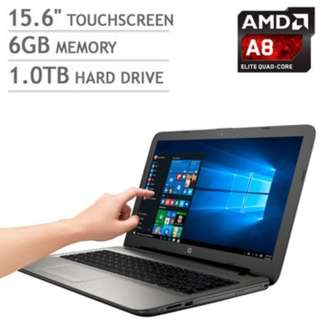 "觸控筆電 HP 15-af123cl 15.6"" Touch AMD A8-7410 2.2ghz 6gb RAM 1t"