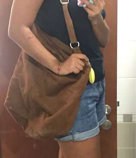 Suede bag - 70's style