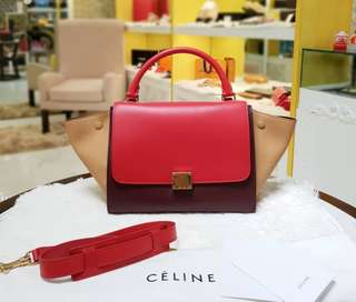 BRAND NEW CELINE TRAPEZE SMALL TRICOLOR TOTE BAG ❤MARK DOWN SALE P110k ONLY❤ ✖✖P120k✖✖ With dustbag tags long strap and paperbag Swipe for detailed pics  Cash/card/layaway accepted