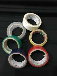 Assorted insulated tapes