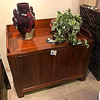 Elmwood Money Chest With Key