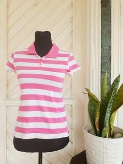 Gap Kids Pink & White Stripes Polo Shirt