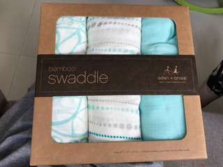 Aden and Anais Bamboo Swaddle - 3 pack